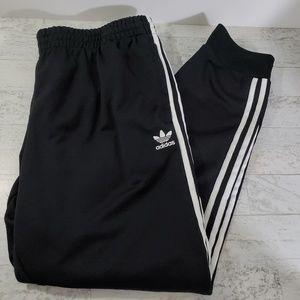 Adidas Trefoil Joggers Black White Side Stripes